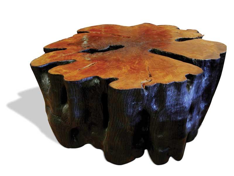 Round Stump Side Burnt